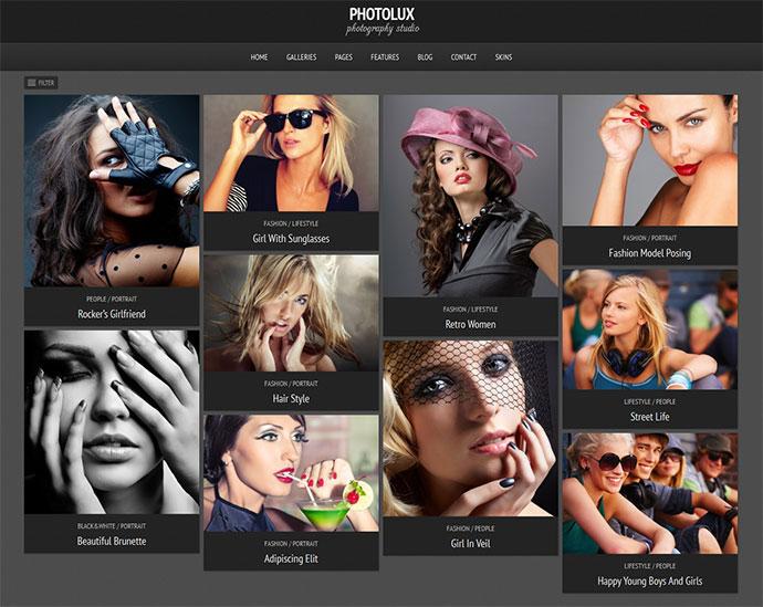 Photolux - Photography Portfolio WordPress Theme