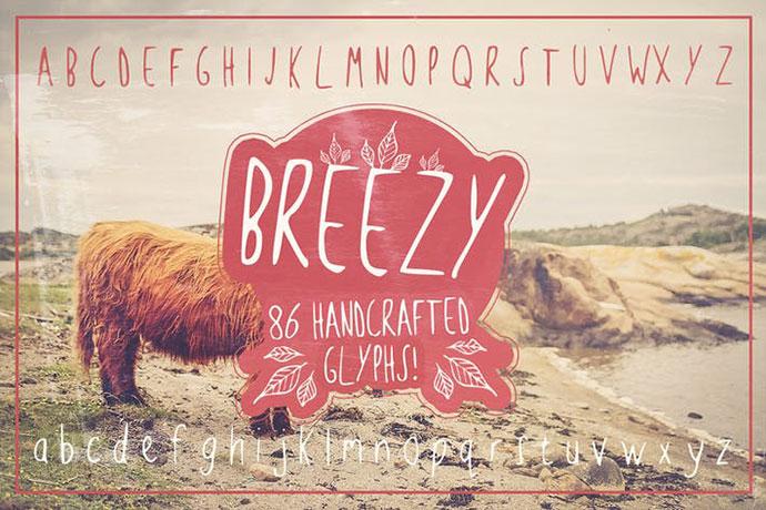 Breezy Handsketched Font