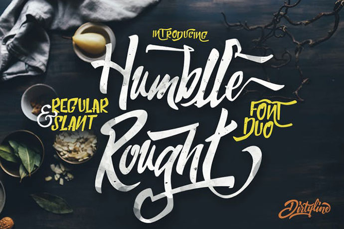 Humblle Rought - Font Duo