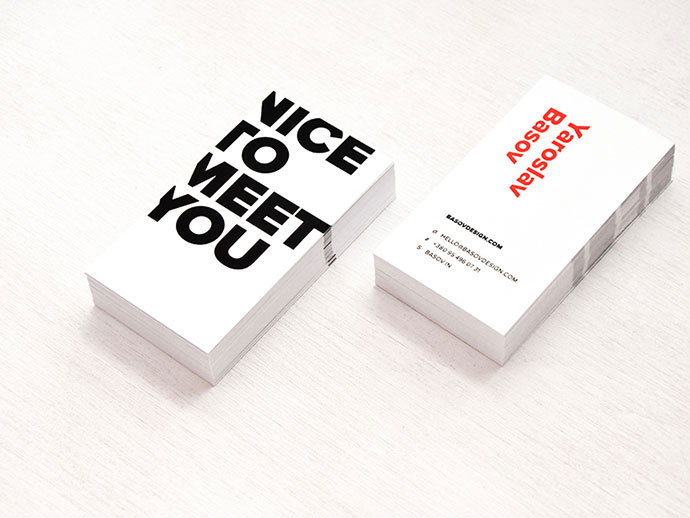 business card by yaroslav basov - Minimal Business Card