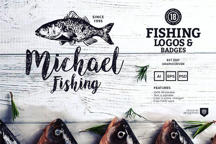 18 Fishing Logos and Badges
