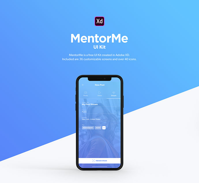 MentorMe UI Kit for Adobe XD