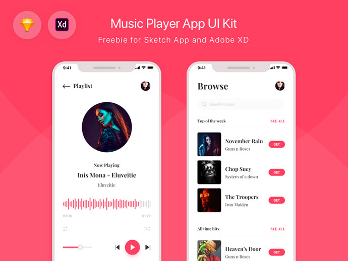 Freebie - Music Player App UI Kit