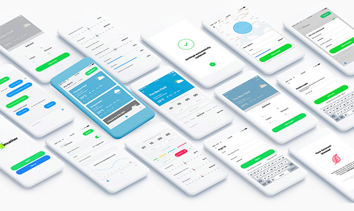 MyWeather - free Adobe XD design