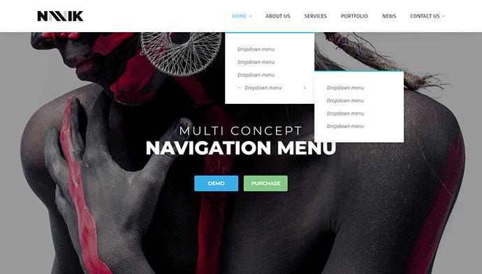 Navik - Responsive Header Navigation Menu