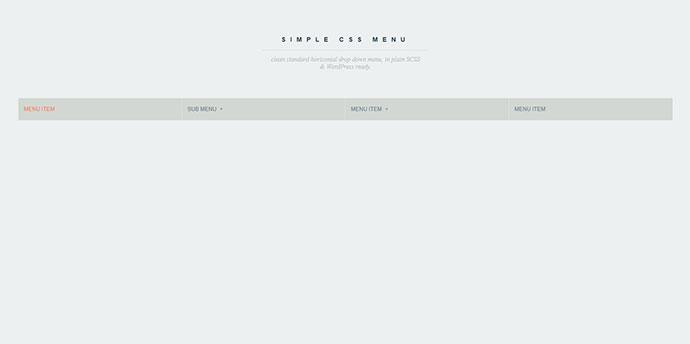 Simple CSS Drop Menu