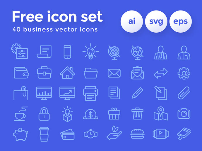 Freebie Business Icon Set