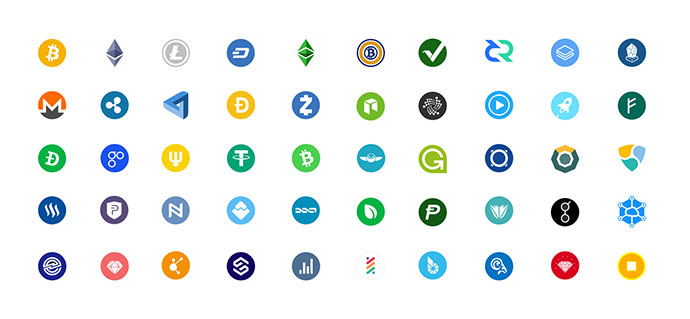 Crypto icons free sketch