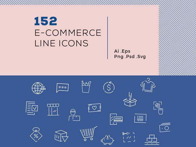 152 Ecommerce Line Icons
