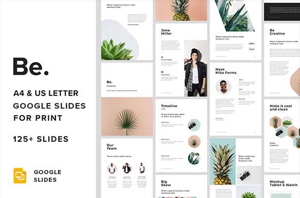 A4 + US Letter Google Slides Presentation for Print