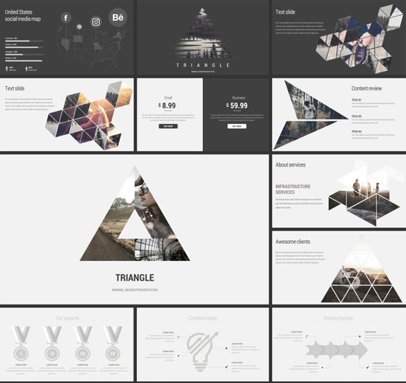 Triangle Minimal GoogleSlides Template