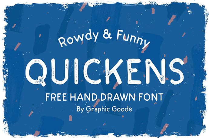 QUICKENS - FREE HAND DRAWN FONT