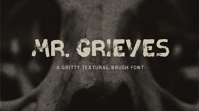 MR. GRIEVES - FREE HAND DRAWN FONT