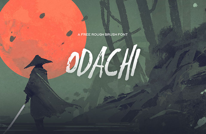 Odachi - Free Brush Font