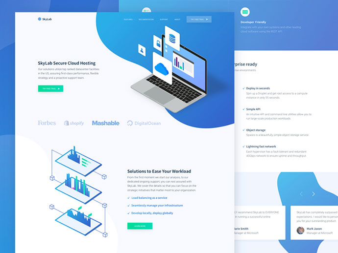 New Cloud Hosting Startup Website Design