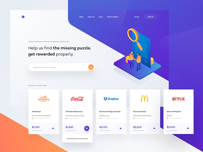 isometric website design