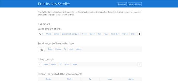 Priority Nav Scroller