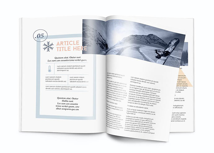 Magazinetemplate - A4 - Indesign