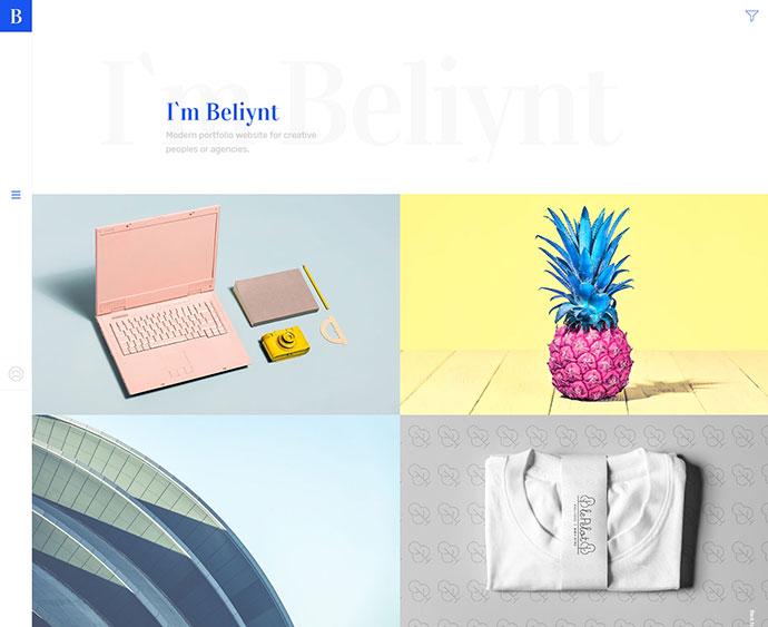 Beliynt - Modern Multi-Conceptual Portfolio WordPress Theme