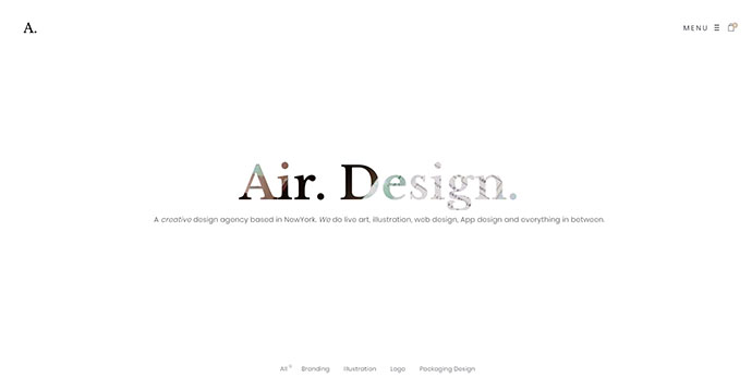 Air. Lightweight Portfolio WordPress Theme
