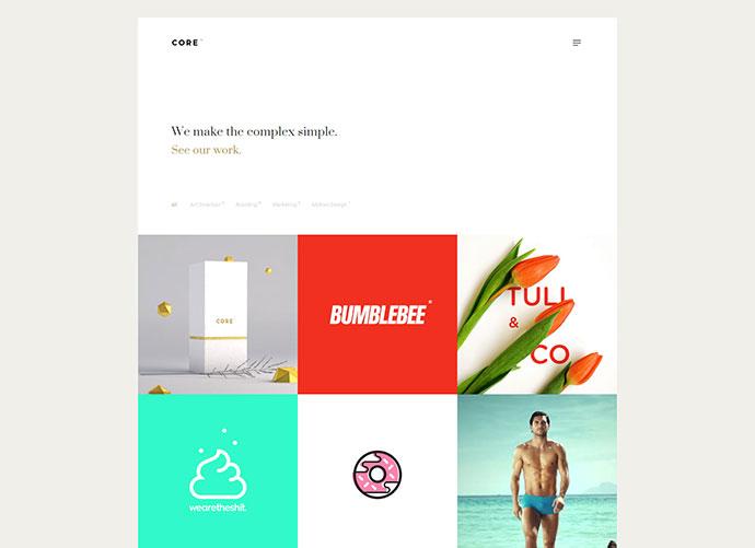 Core – A Minimal Portfolio WordPress Theme for Creatives, Studios, Artists & Agencies