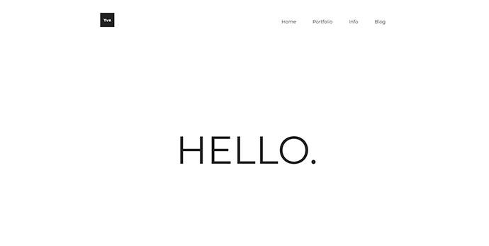 Yve - Minimalist Portfolio Theme