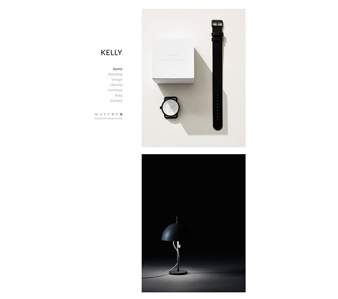 Kelly - Minimal Portfolio & Photography WordPress Theme