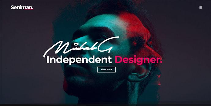 Seniman | Modern Portfolio WordPress Theme