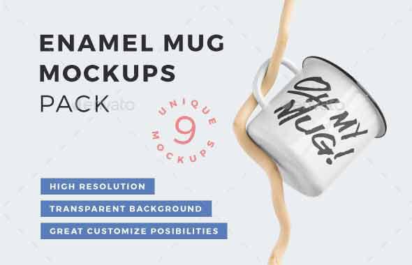 Enamel Mug Mockups Pack