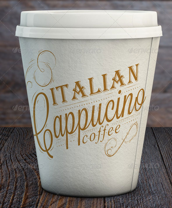 Paper Cup Mock-Up | Takeaway Coffee Cup Mock-Up