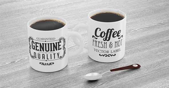 Mug and Spoon Mock-up