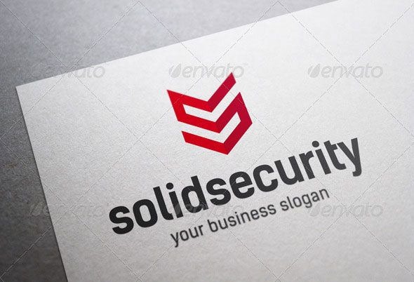 Solid Security S Letter Logo