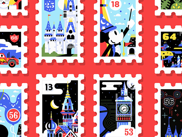 Main St. Post Office Stamp Collection