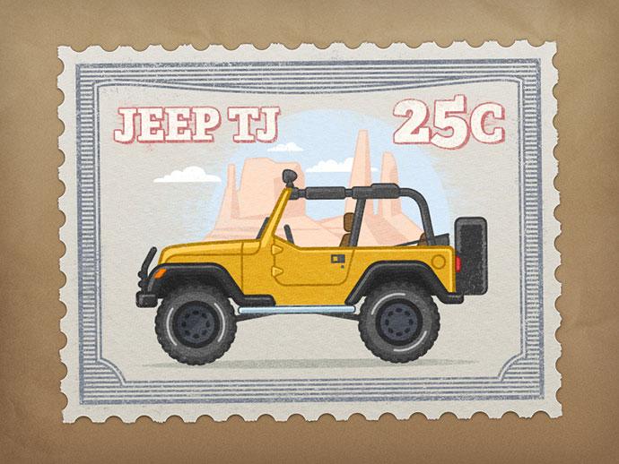 Jeep stamp