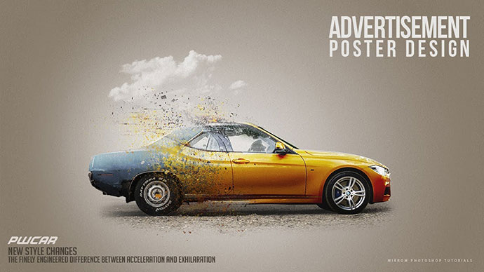 Car Advertisement Poster