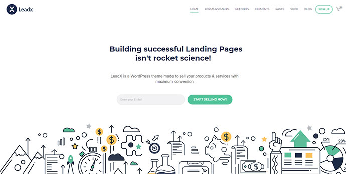 Leadx - Landing Page & Marketing WordPress Theme