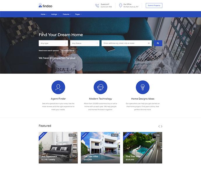 Findeo - Real Estate WordPress Theme