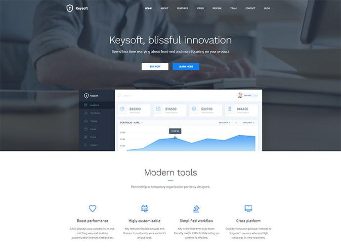 KeySoft - WordPress Software Landing Page