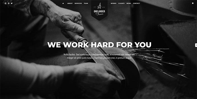 OneLander | Creative Landing Page WordPress Theme