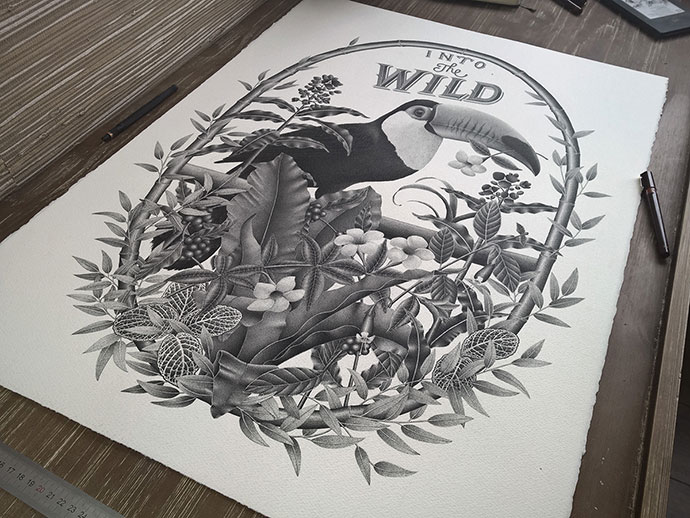 INTO THE WILD - Handlettering & illustration