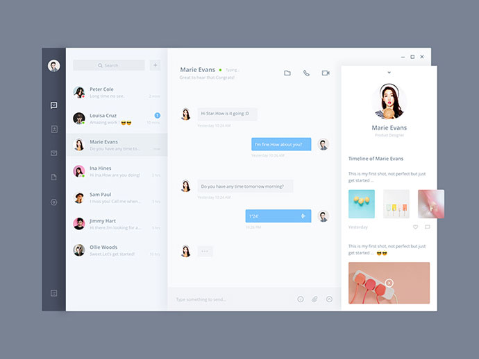 40 Great Chat Dashboard Ui Designs Web Amp Graphic Design