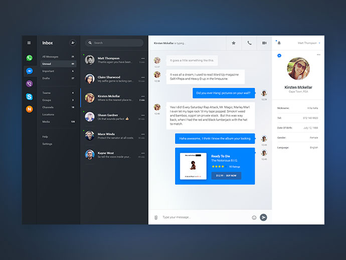 IM - Chat Dashboard PSD
