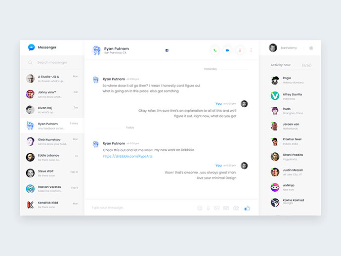 Messenger Redesign concept