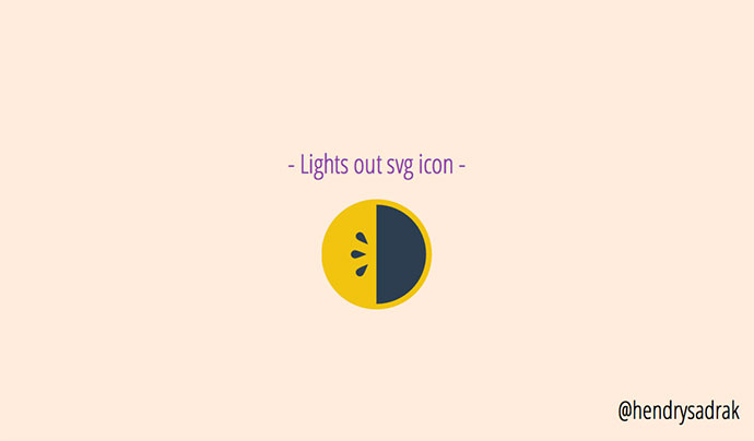 Lights out svg icon