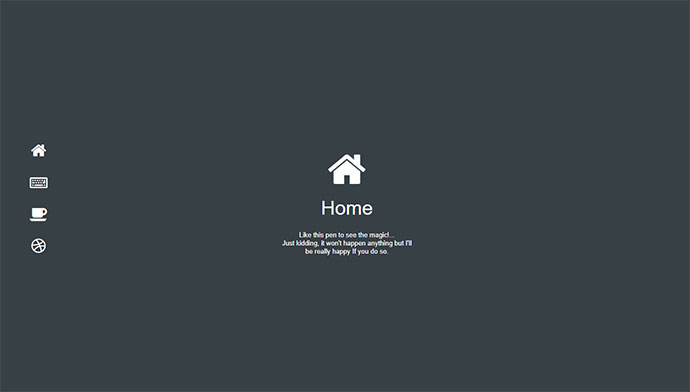 One Page CSS Navigation
