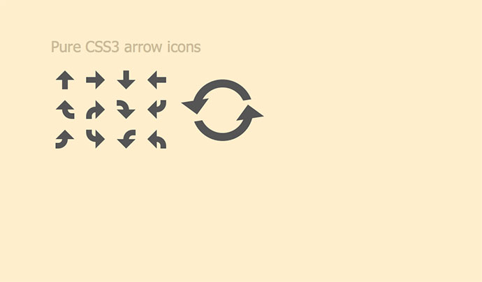 Pure CSS3 arrow icons