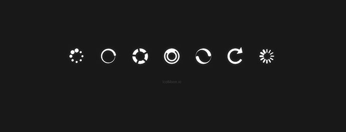 Spinners using Font Icons