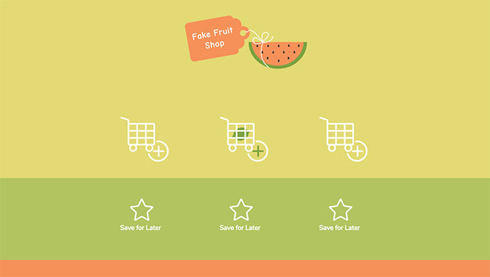Animated Shopping Cart Icons