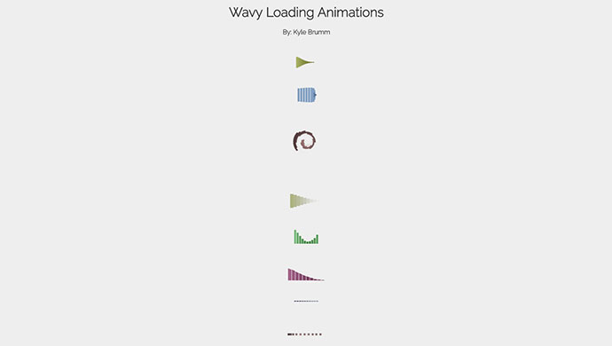 Wavy Loading Animations