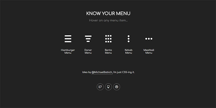 CSS Menu Icon Animation: Know Your Menu